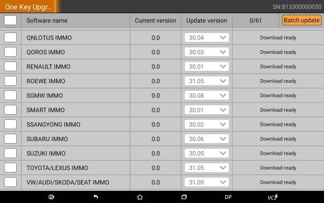 OBDSTAR X300 DP update