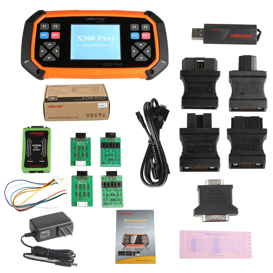 OBDSTAR X300 PRO3 Key Master Full Configuration with Immobiliser+Odometer Adjustment+EEPROM/PIC+OBDII+EPB+Oil/Service reset with OBDSTAR RT100
