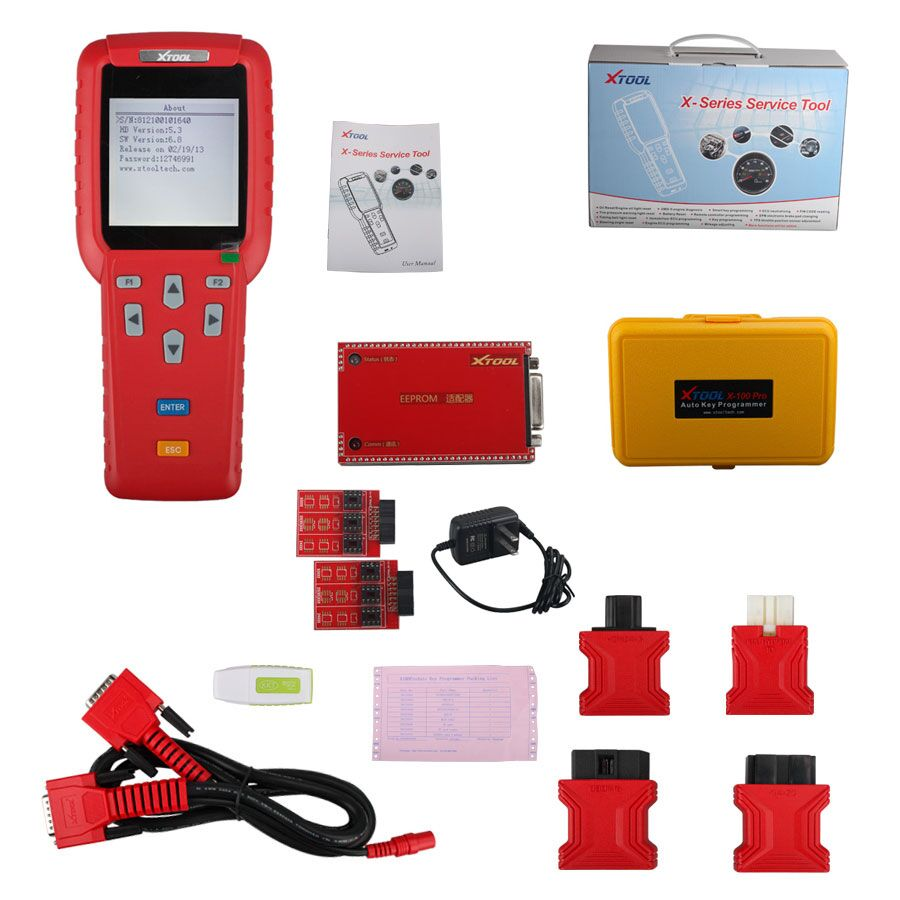 (UK Shipping No Tax)Original Xtool X-100 X100 Pro Hand-held Car Key Programmer with EEPROM Adapter Update Online