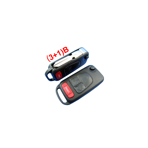 New Remote Key Shell (3+1) Button for Benz 5pcs/lot