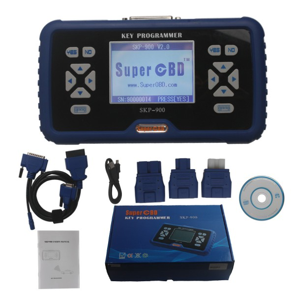 (Promotion)Portuguese Version V4.4 SuperOBD SKP-900 Hand-held OBD2 Auto Key Programmer