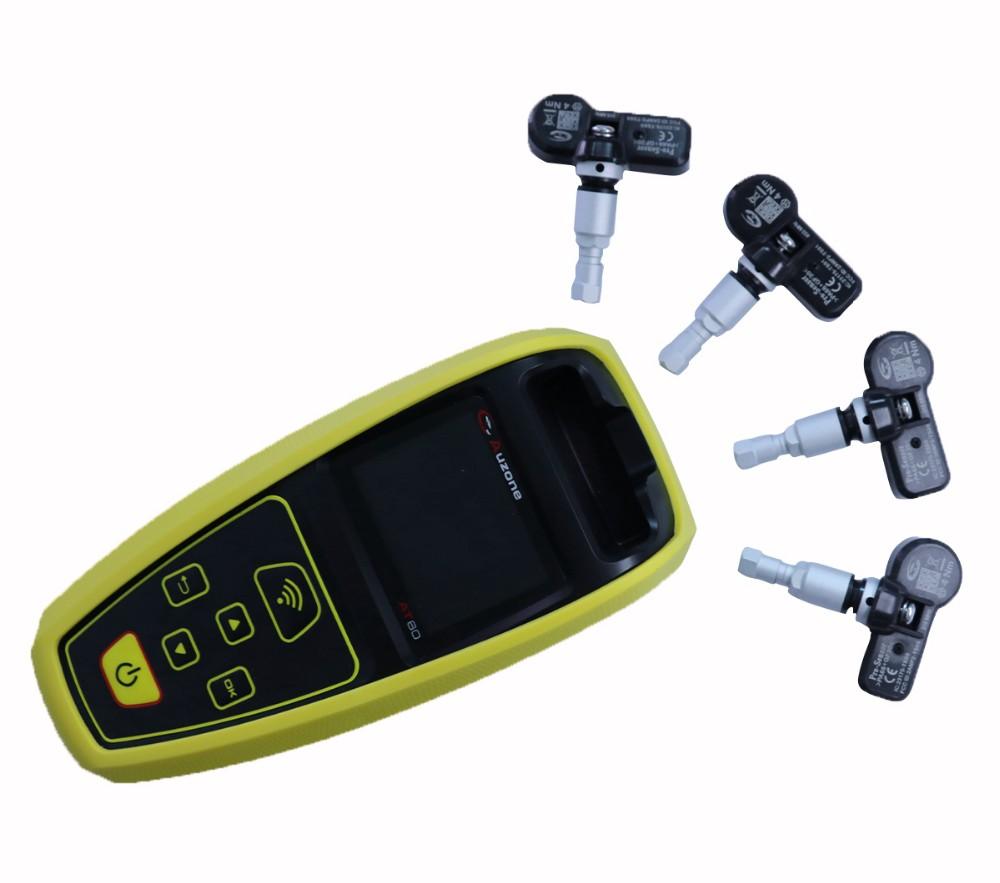 TPMS AT60 Diagnostic & Service Tool with 4PCS 315MHz/433MHz Universal Sensor