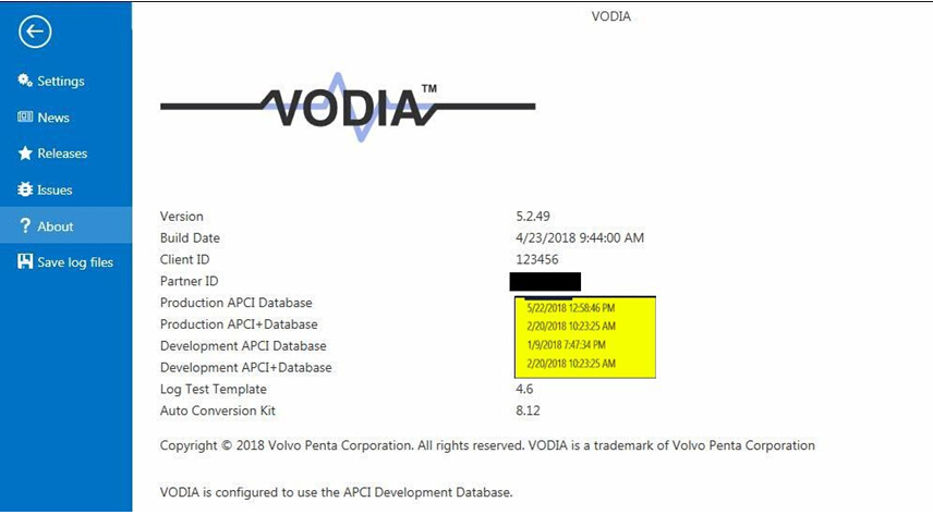 2018 VODIA5 Diagnostic Software for Volvo Penta Industrial and Marine engines
