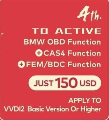 Xhorse VVDI2 BMW OBD+ CAS4+FEM/BDC function Promorion (For VVDI2 Basic Version)