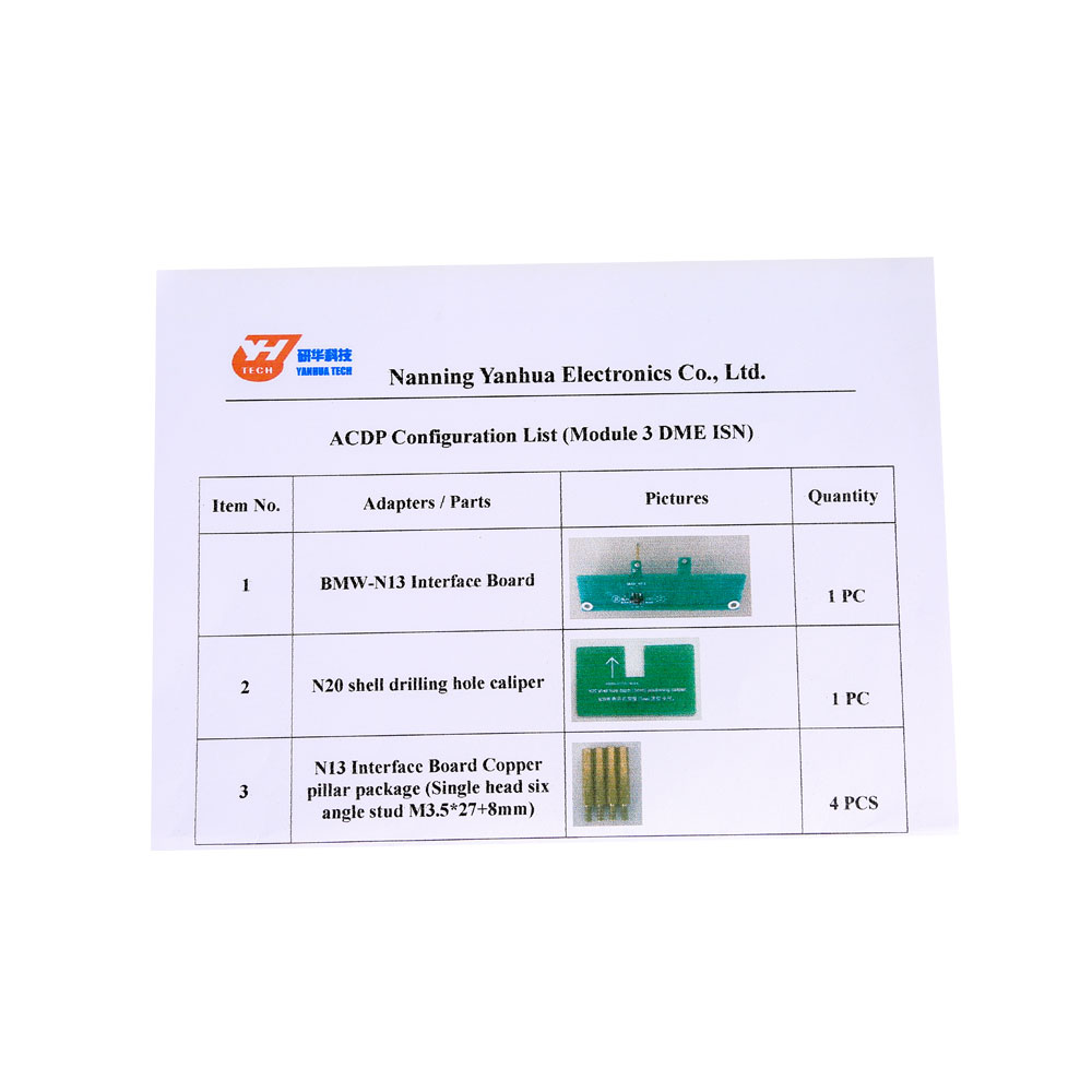 Yanhua Mini ACDP Read BMW DME ISN Code by OBD Module when All Keys Lost No  need Soldering