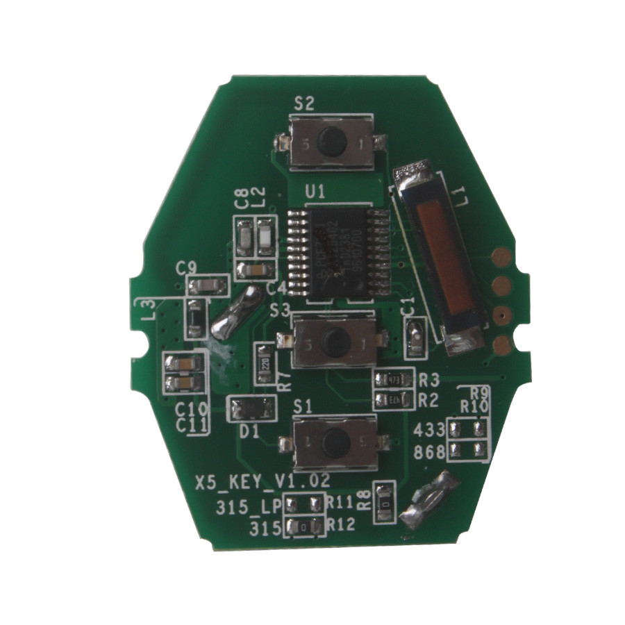 YH Key PCB CAS2 for 03-06 BMW 3/5 Series 315/433/868MHZ (without Key Shell)