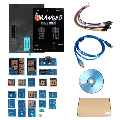 OEM Orange 5 V1.34 Professional Programming Device + Enhanced Version Software with Full Adapters