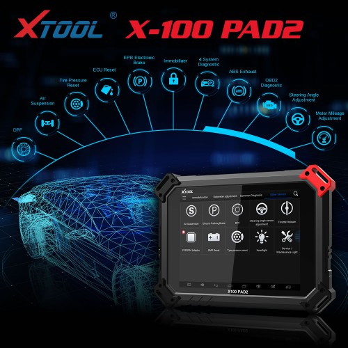 [6% Off €738.84][UK Ship] Xtool X100 PAD2 Pro X-100 PAD Pro Tablet Key Programmer Full Version with Xtool KC100 Adapter for V-W 4th 5th IMMO