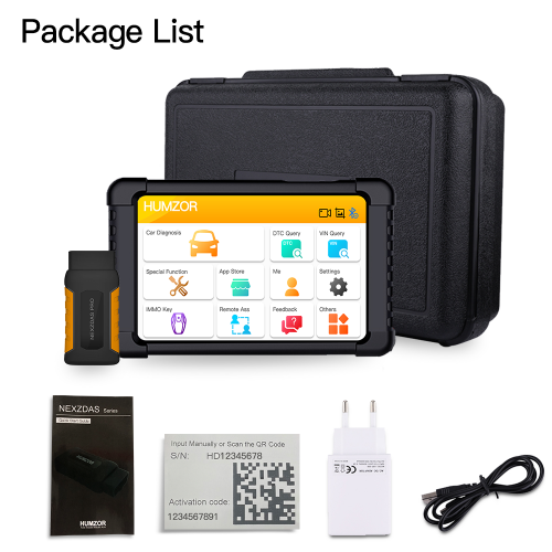 [UK Ship]Humzor NexzDAS Pro Bluetooth 10inch Tablet Full System Auto Diagnostic Tool with IMMO/ABS/EPB/SAS/DPF/Oil Reset