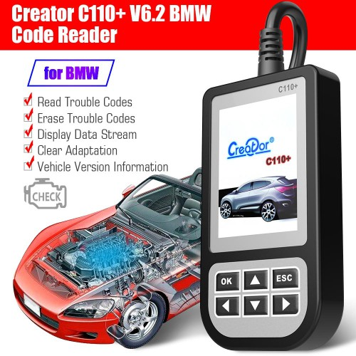 [UK Ship] Latest V6.2 Creator C110 BMW Code Reader Update via Email for Free