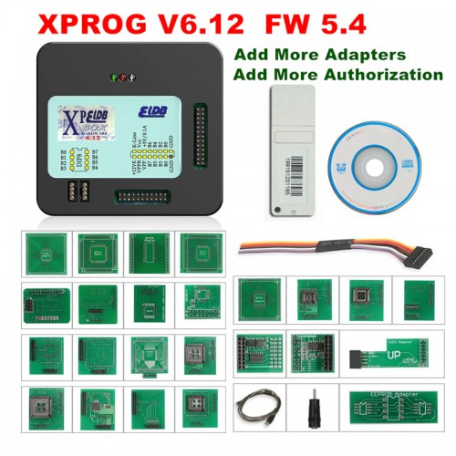 [7% Off €145.08][UK Ship]2020 New XPROG-M 6.12 ELDB V6.12 ECU Chip Tuning Tool With USB Dongle and Full Adapters