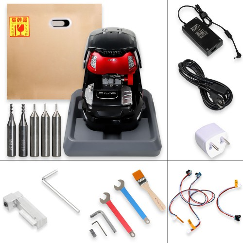 [Black Friday S[UK Ship]V2020.09 2M2 Magic Tank(X6 Plus) Automatic Car Key Cutting Machine Work on Android via Bluetooth with Database Without Battery