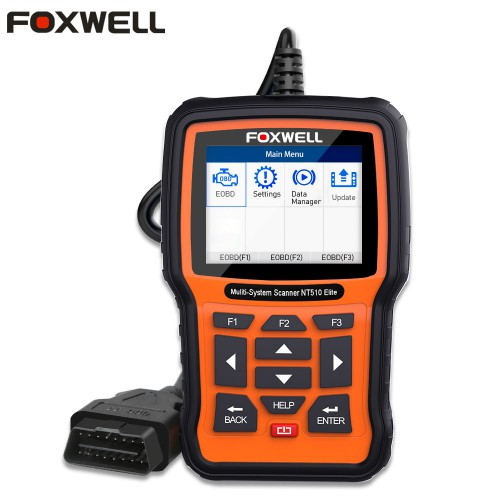 [UK Ship] Foxwell NT510 Elite Multi-System Scanner with 1 Free Car Brand Software+OBD Service Reset Bi-Directional Active Test Same as NT530
