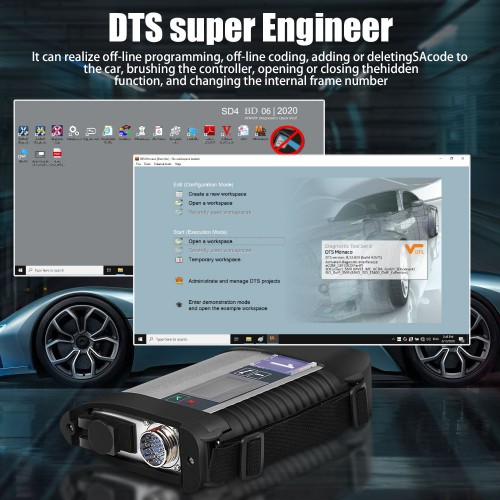 [EU Ship] MB SD C4 Plus SD Connect Compact 4 Star Diagnosis Support Doip for Mercedes Benz Cars and Trucks Without Software