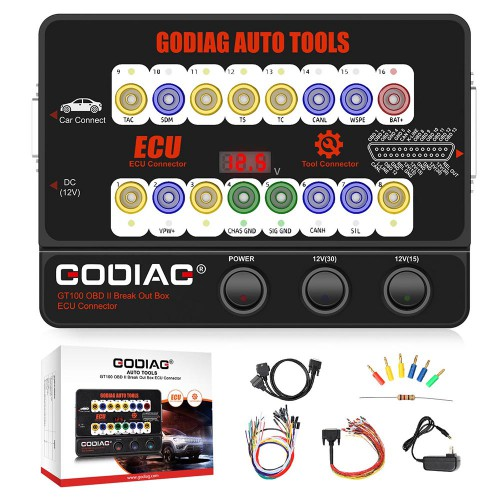 [EU/UK Ship] GODIAG GT100 AUTO TOOLS OBD II Break Out Box ECU Connector