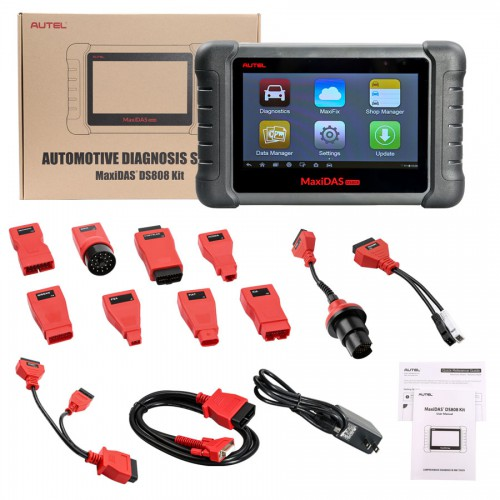 [UK Ship]Autel MaxiDAS DS808 Diagnostic Tool Full Set Support Injector&Key Coding Update Version of DS708 Perfect as MaxiSYS MS906