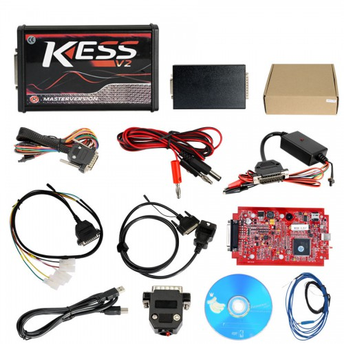 ( UK Ship No Tax)2018 V2.47 Kess V5.017 EU Version with Red PCB New Add Buzzer Support Online Add 140+ Protocol No Token Limited