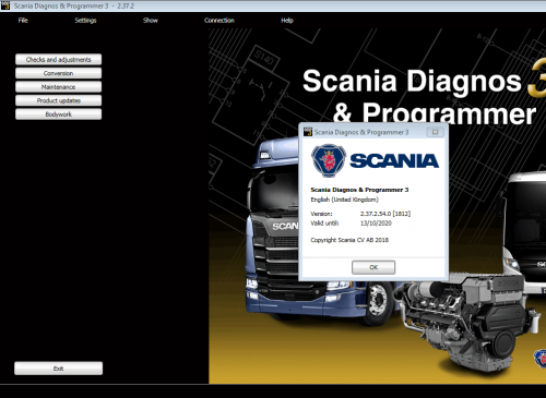 Scania SDP3 2.38 Diagnosis & Programming for VCI 3 VCI3 without Dongle