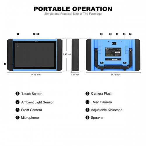 TOPDON ArtiPad I 12 Inch Tablet Diagnostic Tool Support ECU Coding & Programming with Two Year Free Update PK Autel MaxiSys Elite