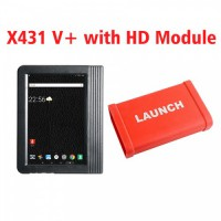 (UK Ship No Tax)Launch X431 Pro3 V+ 10.1inch Tablet Global Version with X431 Heavy Duty Module Work on both 12V & 24V Cars and Trucks