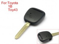 TOY43 Remote Key Shell Side Face 1 Button for Toyota 10pcs/lot without Logo Easy to Cut Copper