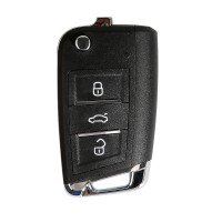 [UK Ship]Xhorse VW MQB XKMQB1EN Flip Transponder Key 3 Buttons 5 Pcs/lot