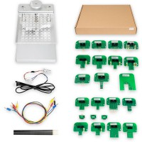 [6% Off €95]Aluminum Alloy LED BDM Frame Full Set with 4 Probes Mesh + 22pcs BDM Probe Adapters for KESS Dimsport KTAG
