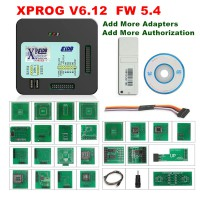 [6% Off €154]2020 New XPROG-M 6.12 ELDB V6.12 ECU Chip Tuning Tool With USB Dongle and Full Adapters