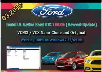 2018 Latest Ford VCM IDS V112 Full Software Support Multi-languages WIN 7 32 64Bits
