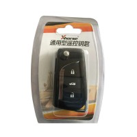 XHORSE Toyota Style Wireless Universal Remote Key 3 Buttons XN008 (Individually Packaged) for VVDI Key Tool 5Pcs