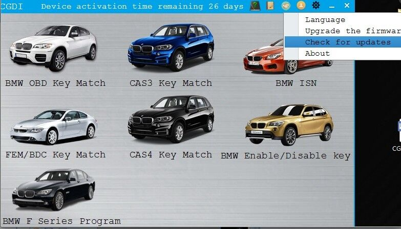 CGDI Prog BMW MSV80 check for update