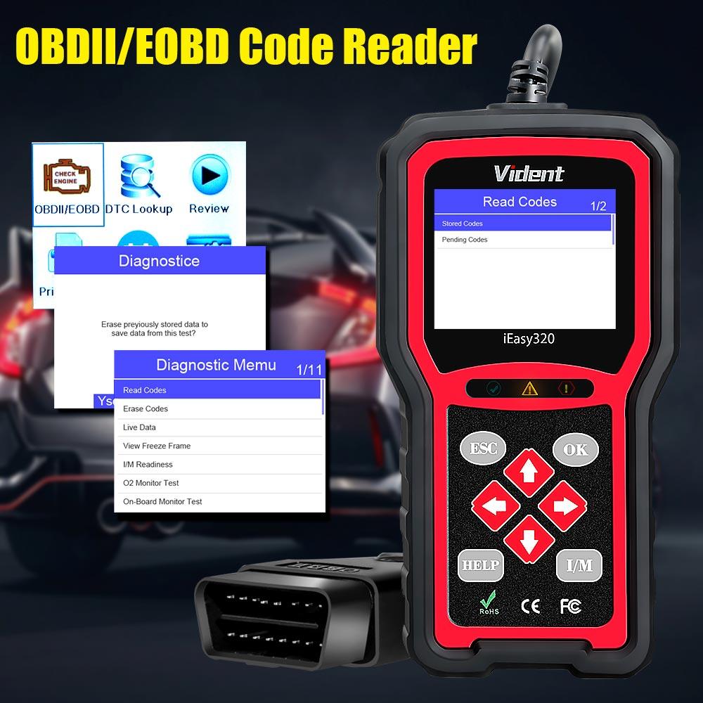 vident iEasy320 obdii code reader