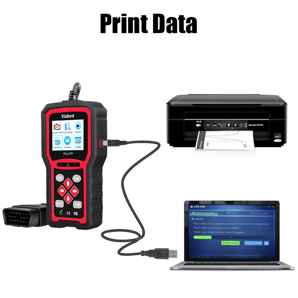 how to print data for vident ieasy320