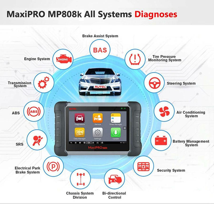 autel mp808k diagnosis function