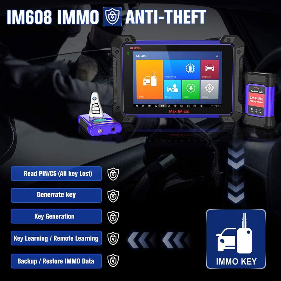 Autel Im608 immo function