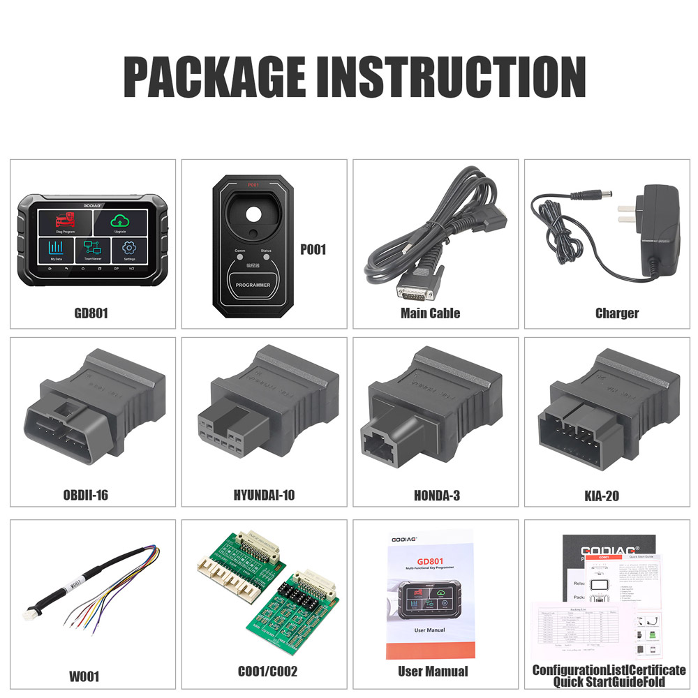 godiag gd801 package