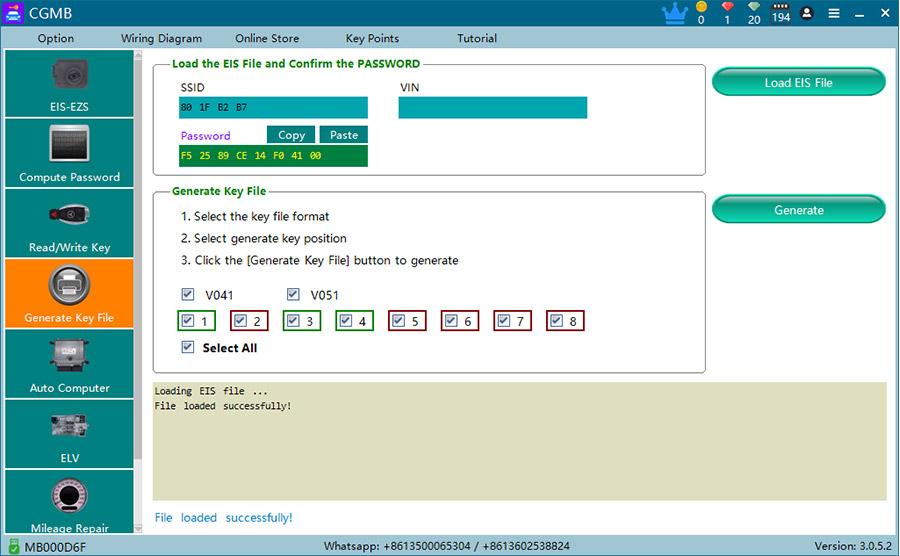 cgdi mb generate key file