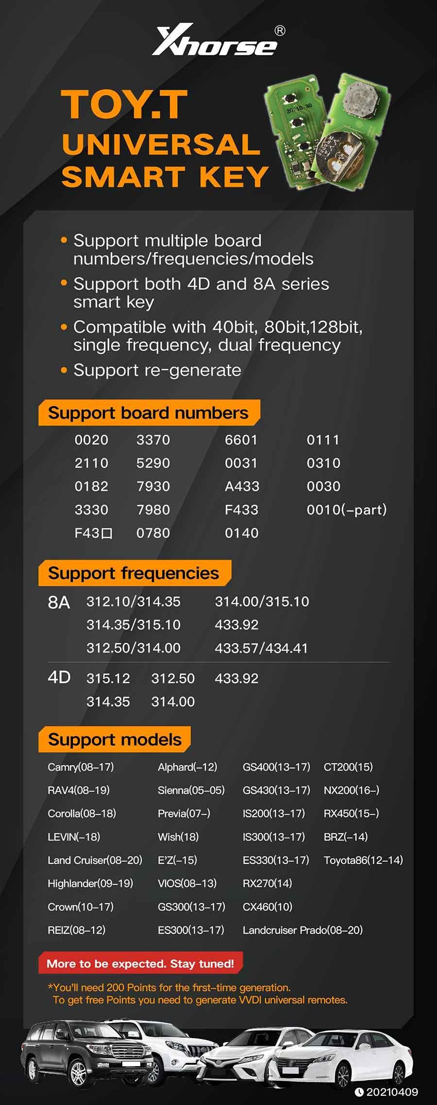 Xhorse XSTO00EN XM Smart Key PCB