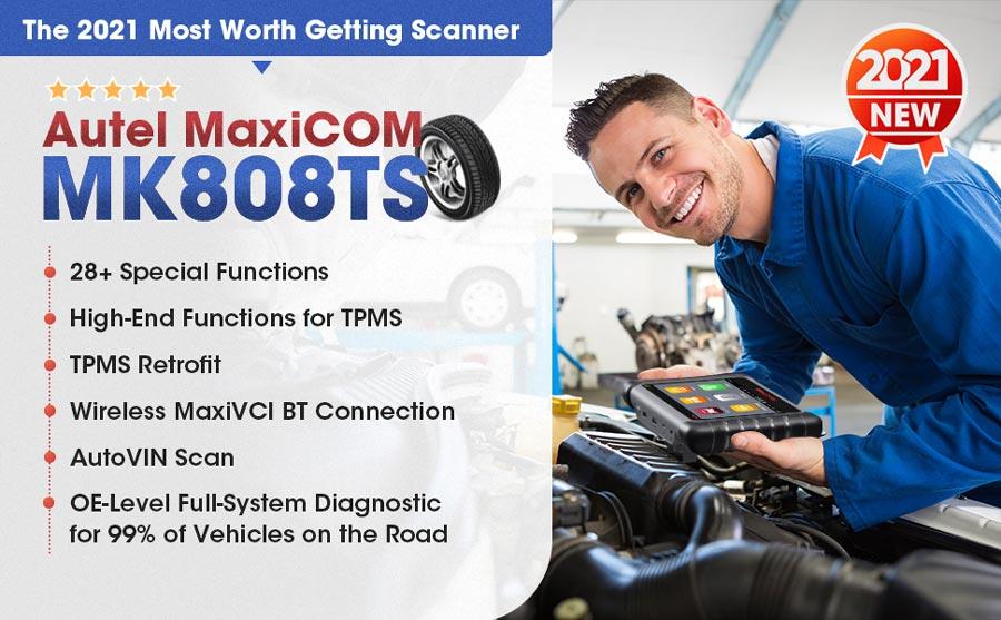 Autel MaxiCom MK808TS OBD2 TPMS Diagnostic Tool