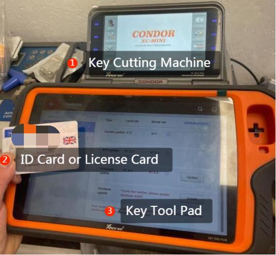 combine key tool plus and dolphin xp007
