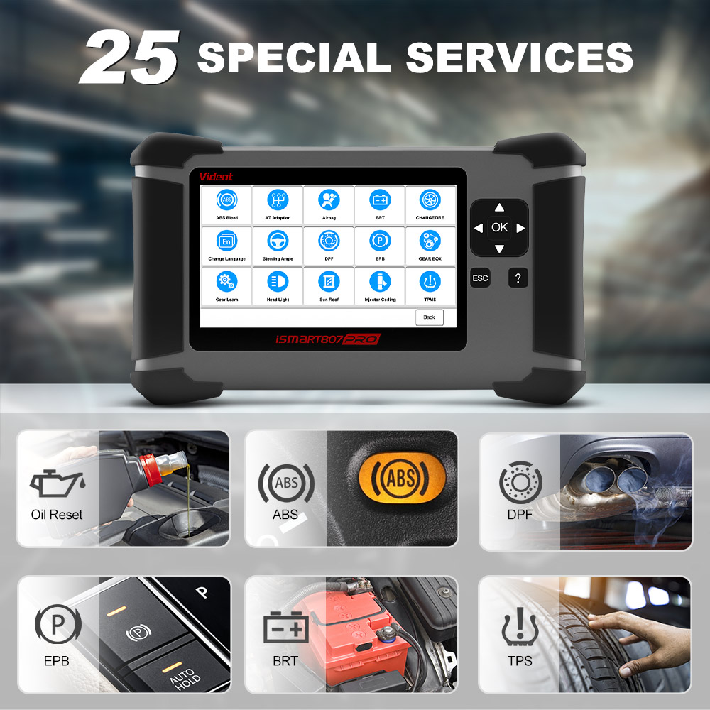 vident ismart 807 pro service function