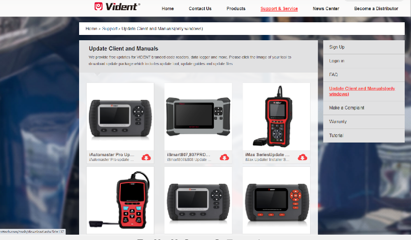 vident ismart 807pro update manual