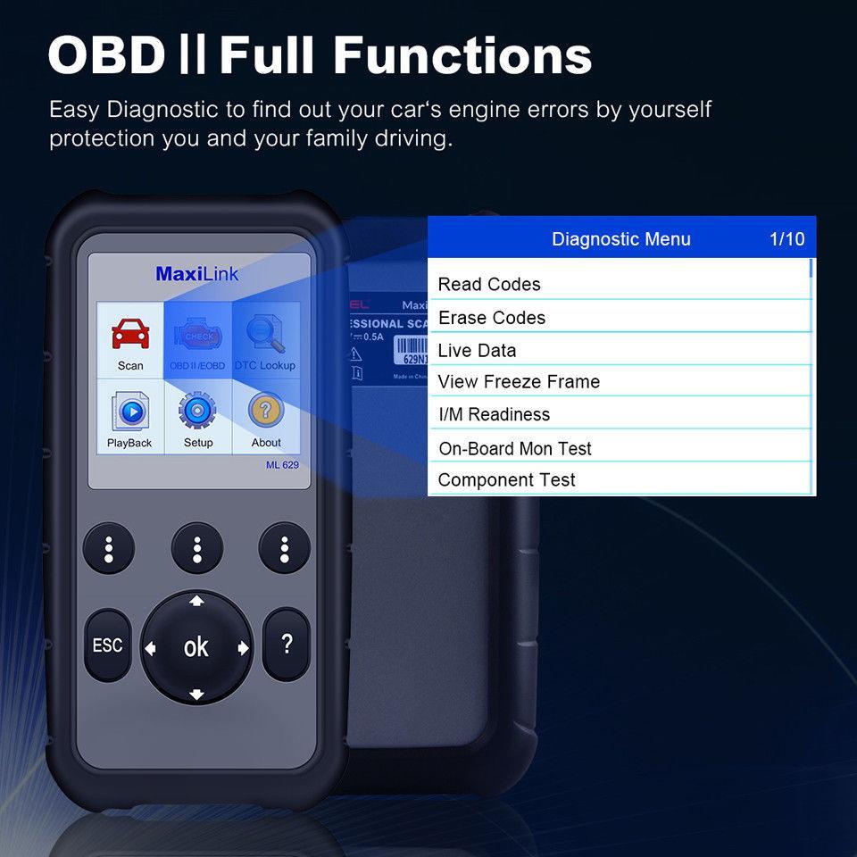 Autel MaxiLink ML629 OBD2 Scan Tool