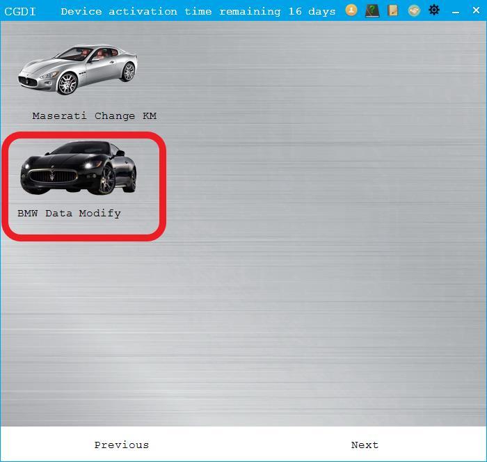 BMW Data Modification and Verification for CGDI Prog BMW MSV80 Key Programmer