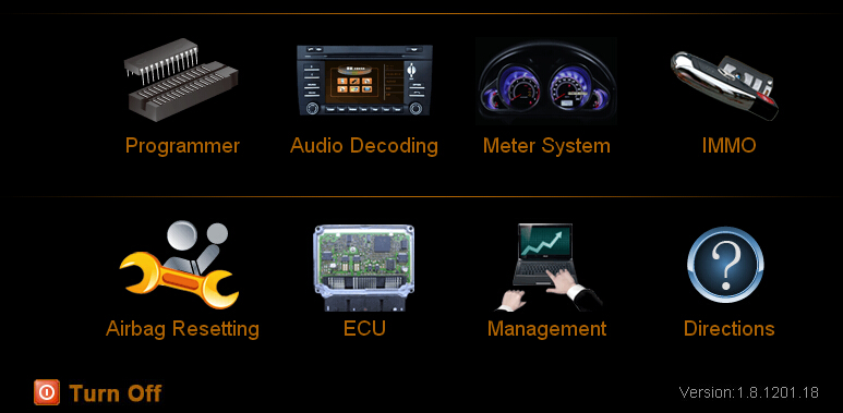 Main function of Digimaster 3 - Audio decoding,AIRBAG,ECU PROGRAM,IMMO TEST etc