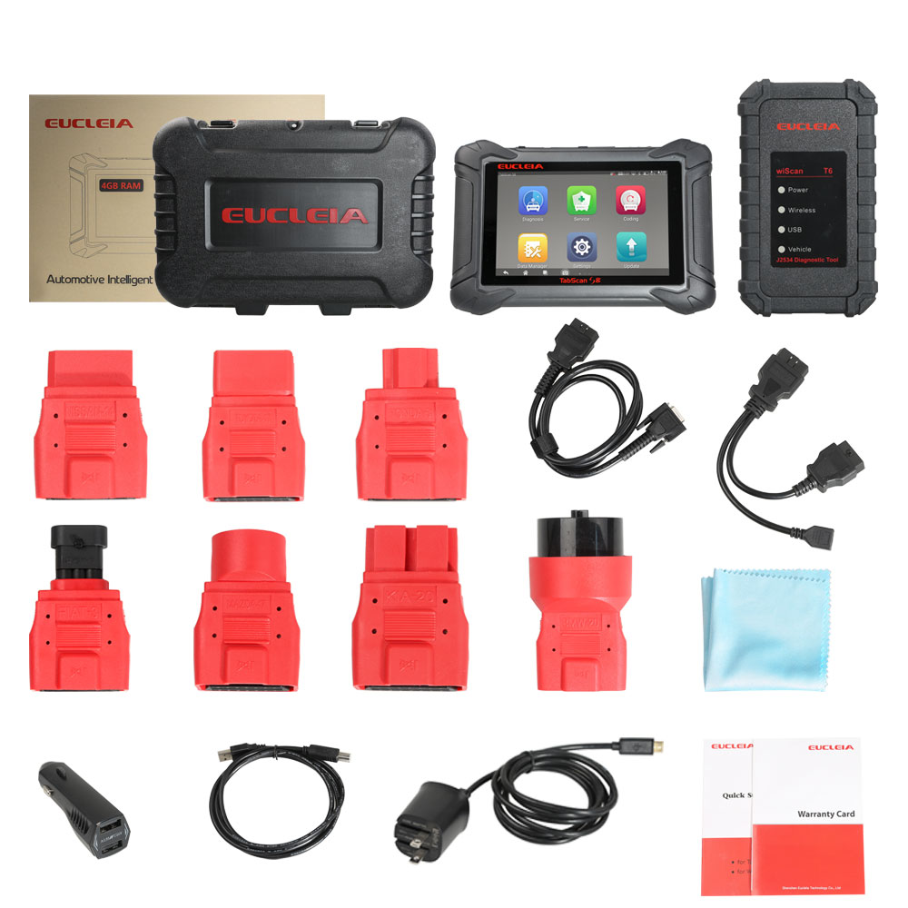 EUCLEIA TabScan S8 Automotive Intelligent Dual-mode Diagnostic  and Coding System Update Online