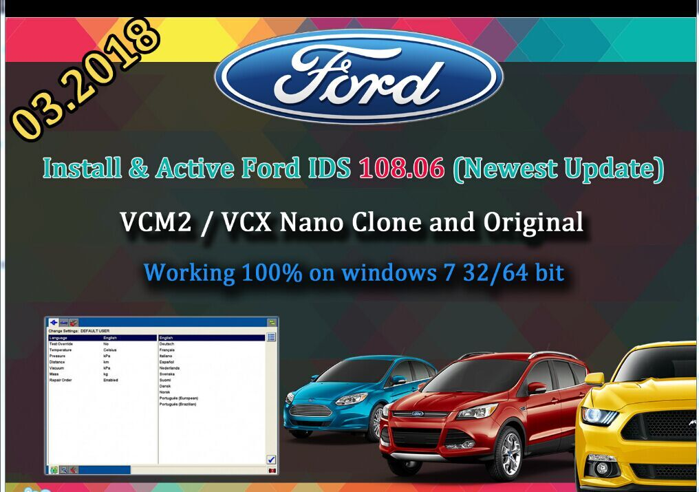Młodzieńczy 2018 Latest Ford VCM IDS V112 Full Software Support Multi OD48