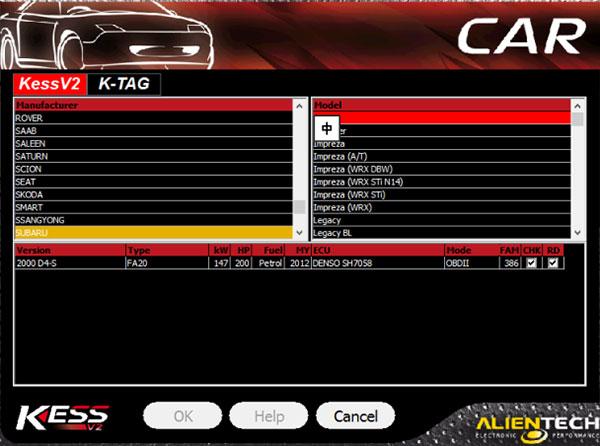 kess v5.017 car list