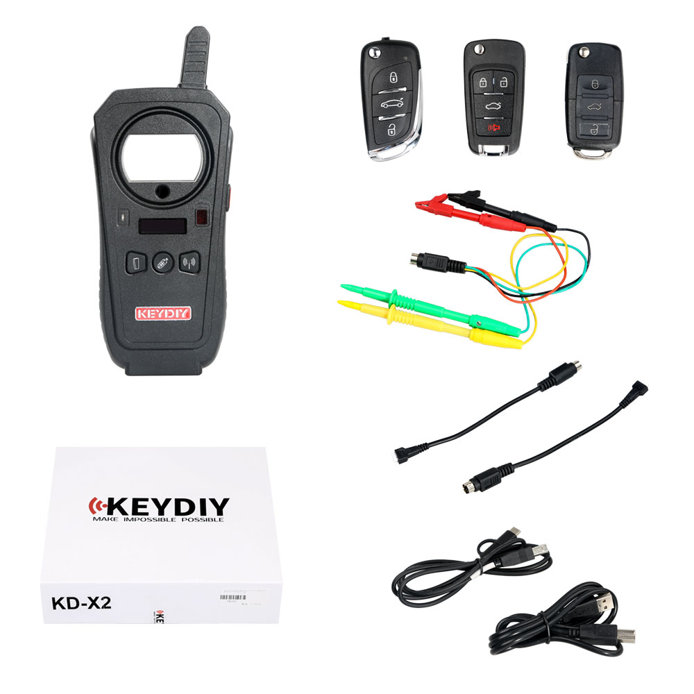 V5.0.0 KEYDIY KD-X2 KD X2 Remote Maker Unlocker and Generator with 96bit 48 Transponder Copy Function No Need Token