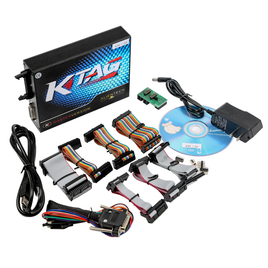(UK Shipping No Tax)Ktag SW 2.23 FW V7.020 Car Truck Tract Boat Master ECU Programmer No Tokens Need with ECM TITANIUM V1.61